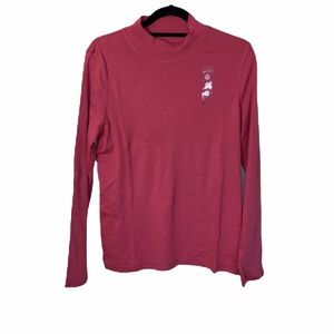 NWT NORTHERN REFLECTIONS PINK LONG SLEEVE TOP SIZE LARGE